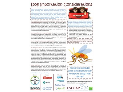 Dog Importation Considerations factsheet launched